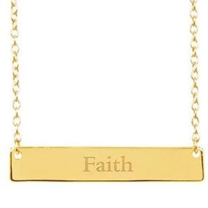 FAITH 14K Yellow Gold Plated Sterling Silver Neckl